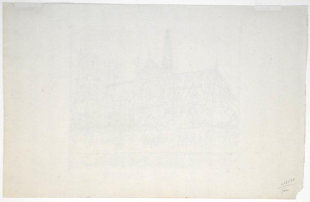 André Dunoyer de Segonzac - Notre Dame de Paris vue du quai Montebello - Verso