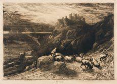 Sir Francis Seymour Haden - Harlech (seconde planche)