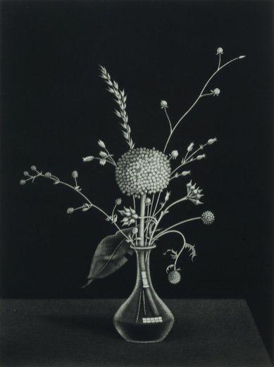 Kiyoshi Hasegawa - Graminées dans un vase de fleurs