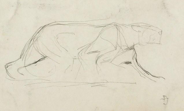 Paul Jouve - Silhouette de tigre