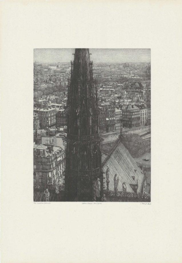 Takuji Kubo - Notre Dame, the spire (la flèche) - Édition de tête - Recto