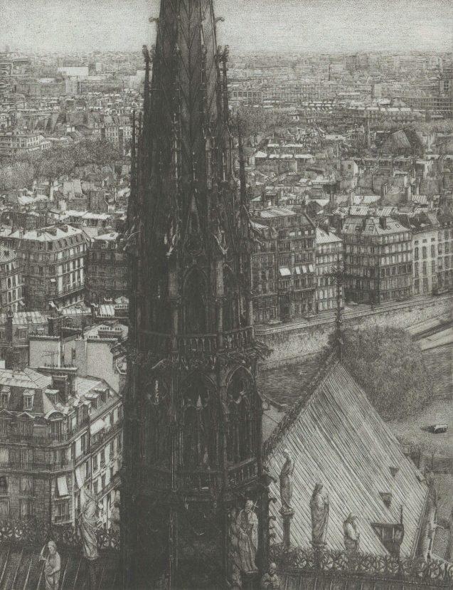 Takuji Kubo - Notre Dame, the spire (la flèche) - Édition de tête