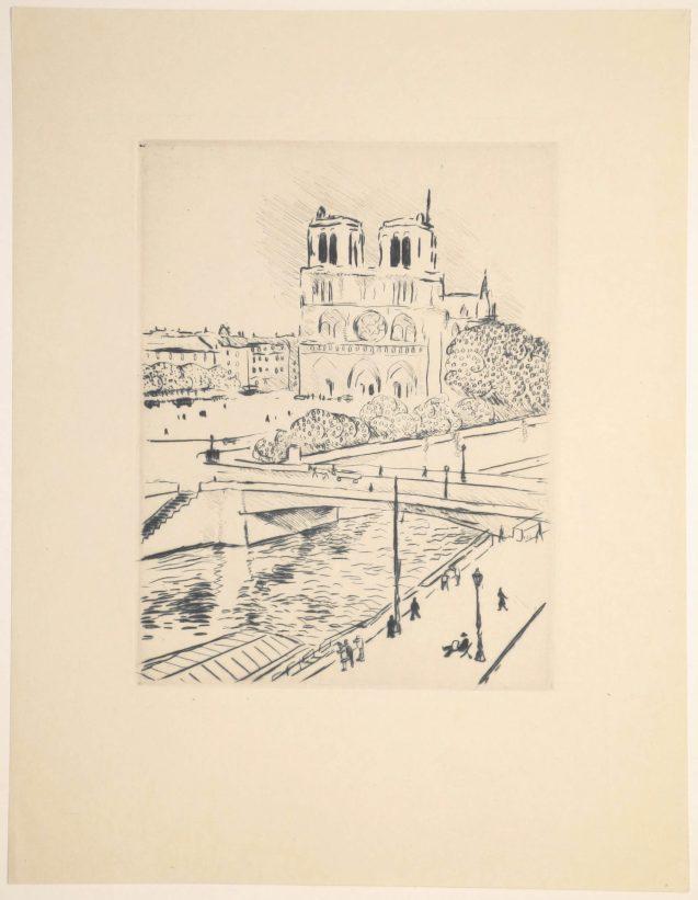 Albert Marquet - Notre Dame et le pont Saint Michel - Recto