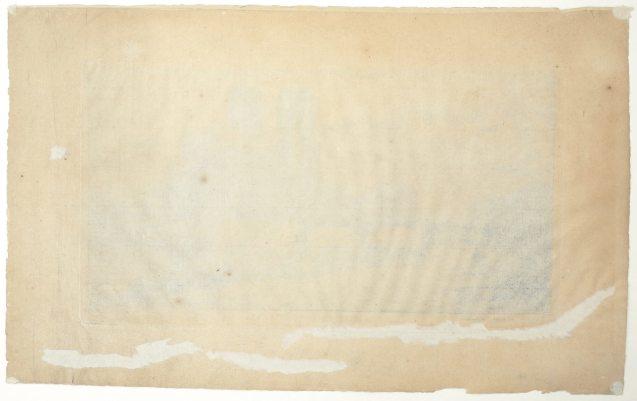Charles Meryon - L'abside de Notre Dame de Paris - Verso