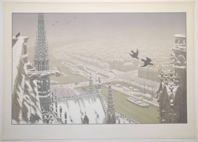 Henri Rivière - Du haut des tours Notre Dame - Recto