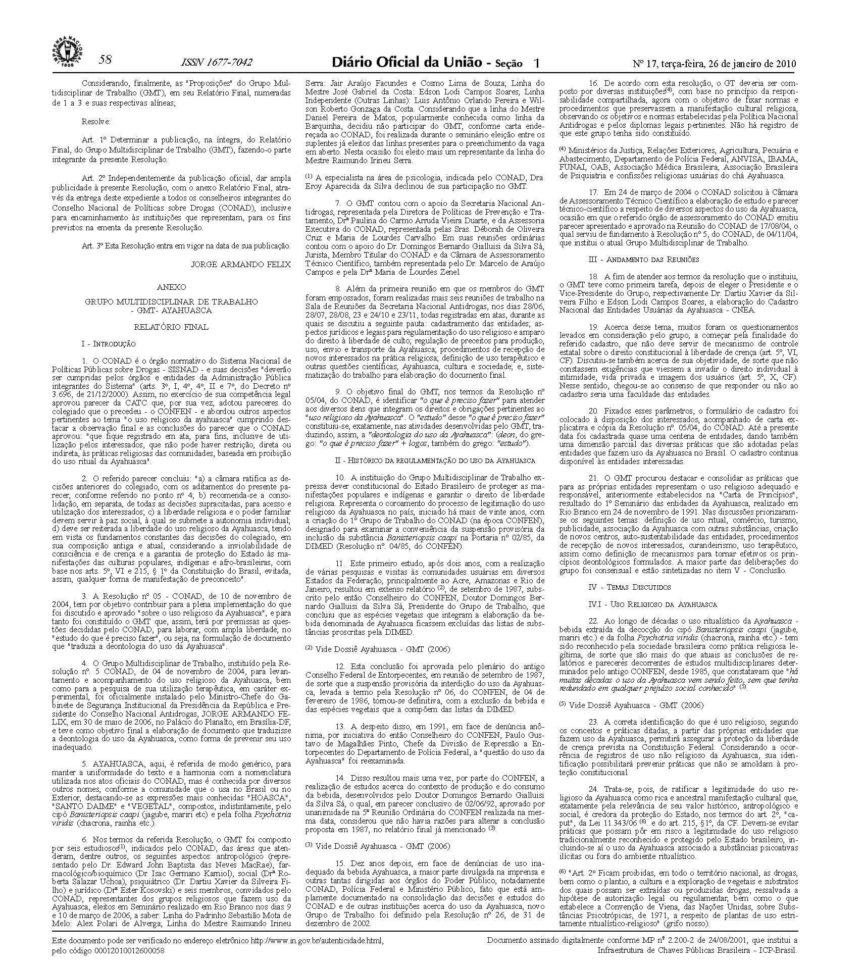 legalidade da ayahuasca