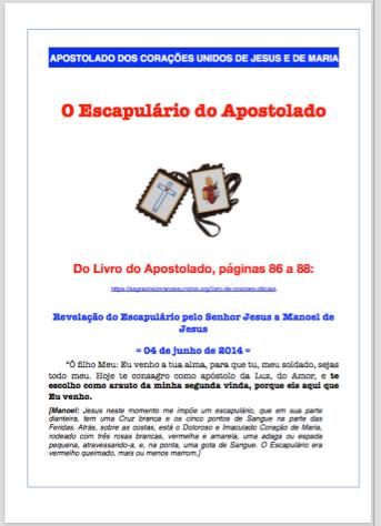 Escapulário dos Sagrados Corações Unidos de Jesus e de Maria.