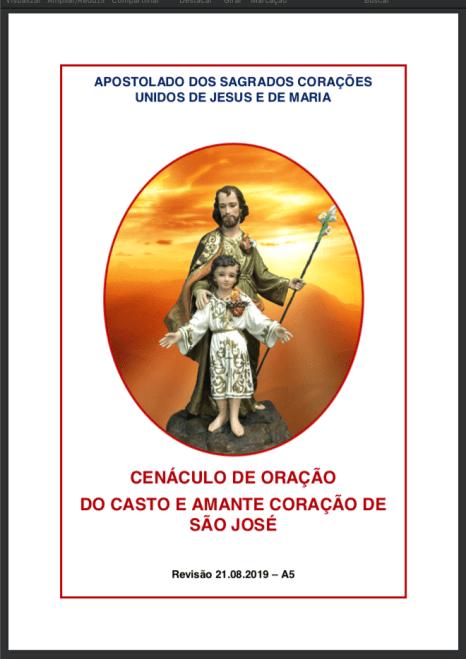Cenáculo de Oração do Casto e Amante Coração de São José - A5 - QUARTAS-FEIRAS