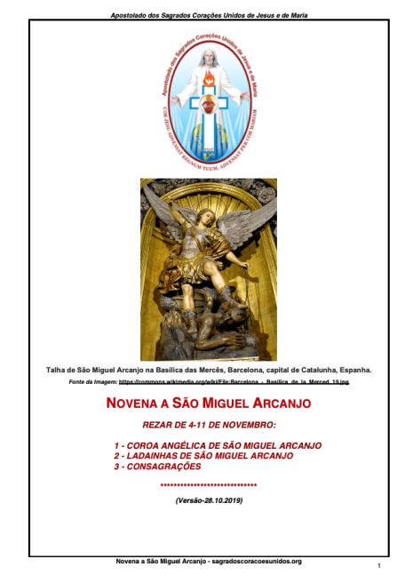 Novena a São Miguel Arcanjo - Patrono deste Apostolado - A4 - Revisão-12.11.2019