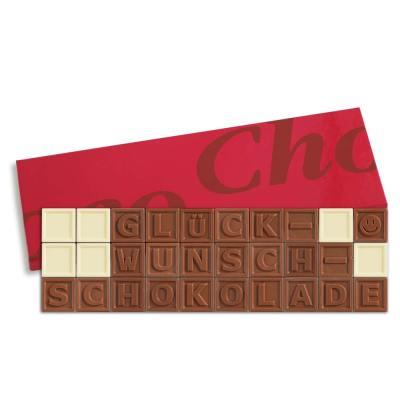 30er-Schoko-SMS - Glückwunschschokolade