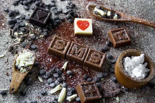 35er Schoko-SMS - Zur Heirat alles Liebe und Gute!