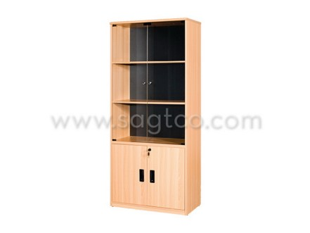ofd_nova_sf--153--office_furniture_office_system_furniture--bf_be_741_glass_door_bookshelf_cabinet_beige