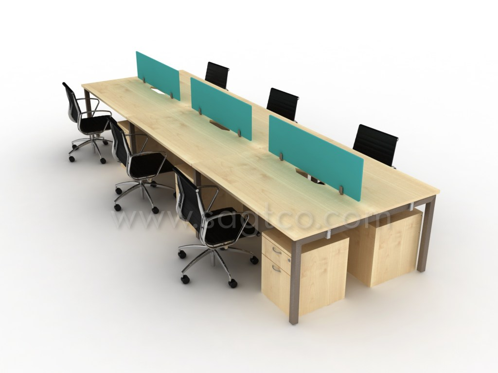 Ofd sagtco wks pangea 701 office workstations dubai office partitions dubai cluster of 6 mix