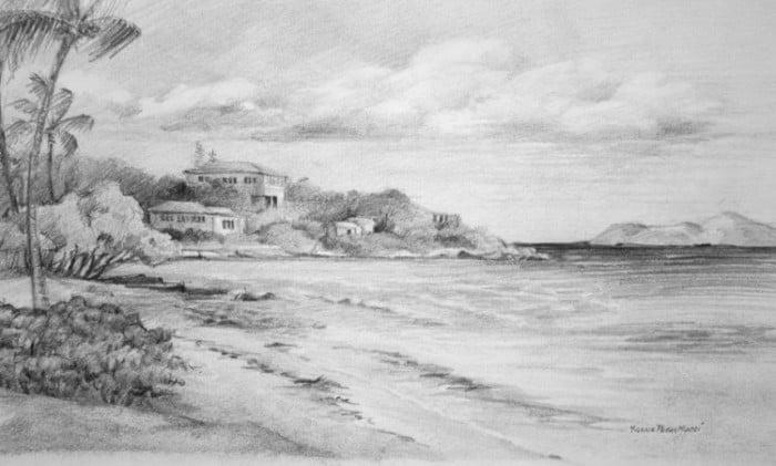 Sketsa Pantai Sederhana