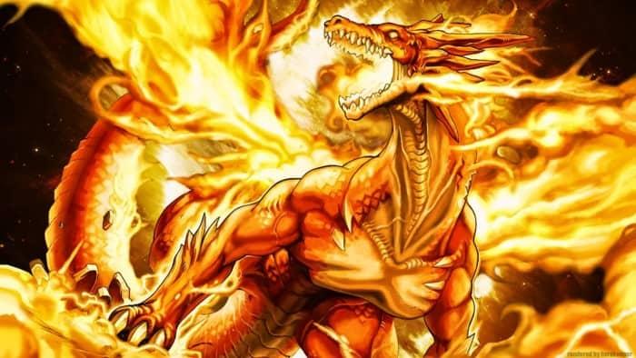 Gambar Naga Api