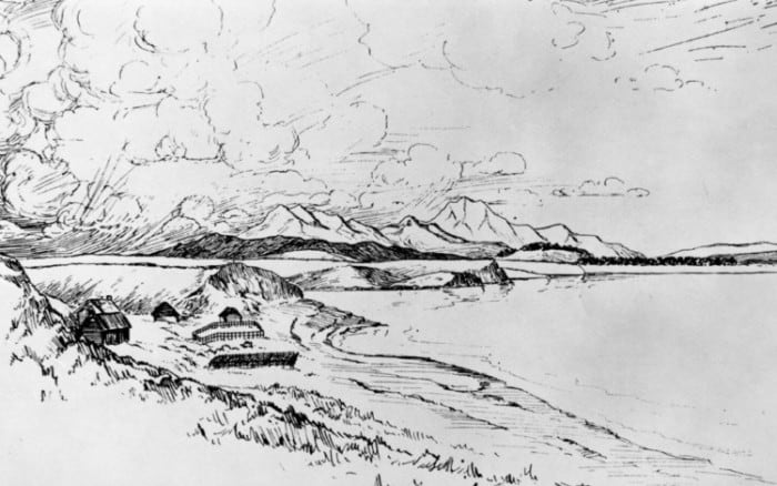 Sketsa Lukisan Pantai