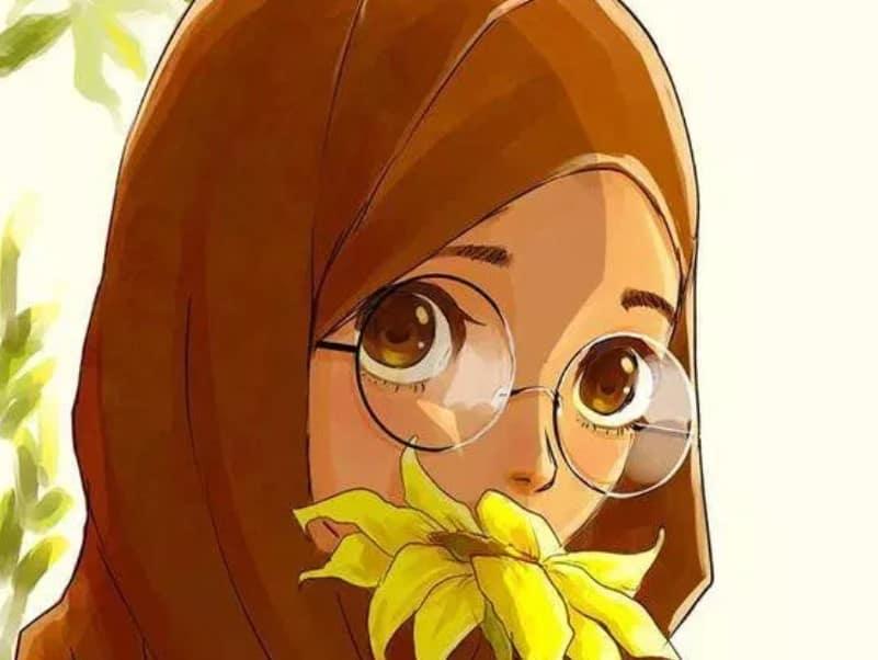 Gambar kartun kini tersedia dengan banyak macam 30+ Gambar Kartun Muslimah Bercadar, Syari, Cantik, Lucu (Terbaru)