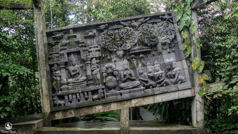 Replika Relief Candi Borobudur di Museum Ullen Sentalu