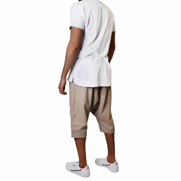 sarouel beige et t-shirt oversize blanc sahabi
