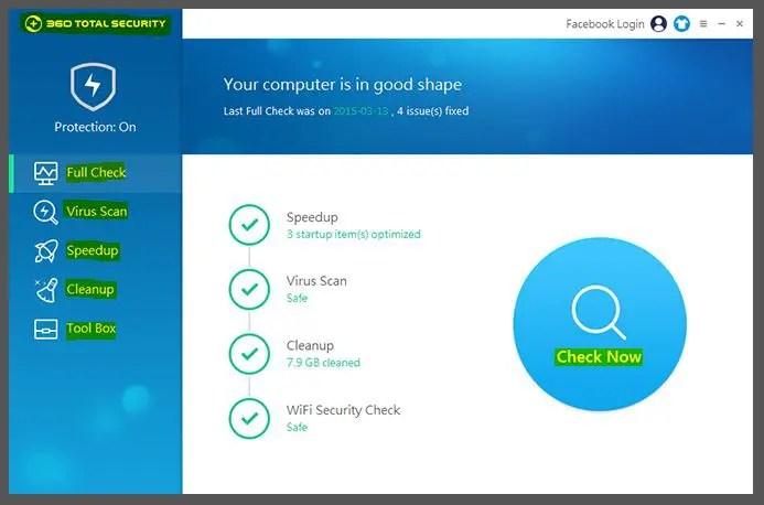 تعرف على توتال سيكيورتي وحمايته ضد الفيروسات 360 total security