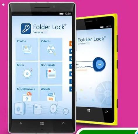 نسخة برنامج folder lock للويندوز فون