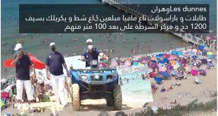 اتهامات خطيرة لشرطة شاطئ les dunnes بوهران بالتواطؤ مع مافيات المظلات