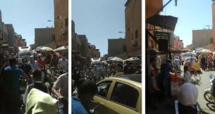 المدينة العتيقة مراكش تعاني من الفوضى و الازدحام وغياب السلامة بسبب الباعة المتجولون