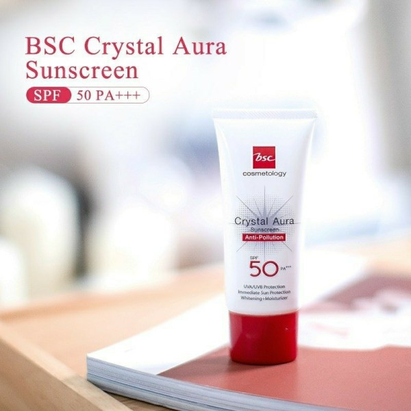 Bsc Cosmetology BSC COSMETOLOGY CRYSTAL AURA SUNSCREEN SPF 50 PA+++ ANTI-POLLUTION