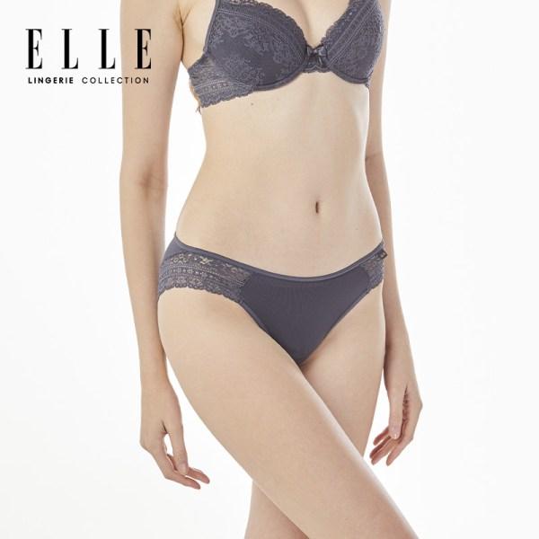 Elle Lingerie ELLE Lingerie Bikini Lowrise กางเกงในรูปแบบ Bikini ตกแต่งลูกไม้ - LU6733