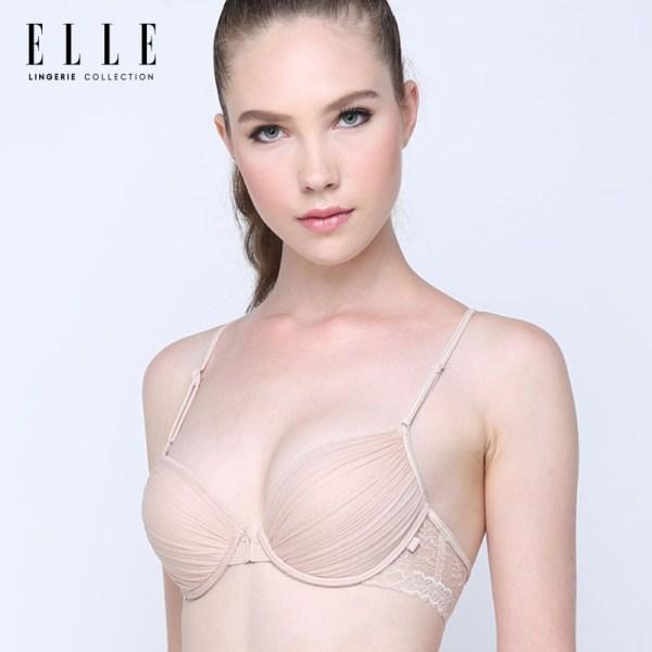 Elle Lingerie Elle Lingerie Front Hook Bra บราตะขอหน้า แต่งพลีทและผ้าลูกไม้ - LB7540