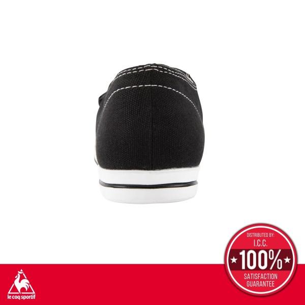 le coq sportif le coq sportif รองเท้าผู้หญิง รุ่น Teluna Smart Light สีดำ รองเท้าผ้าใบสีดำแบบผูกเชือก รองเท้าลำลอง