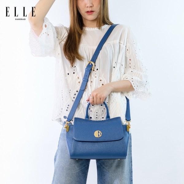 Elle Bag ELLE BAG กระเป๋าสะพายข้าง ดีไซน์ไซน์สวยงามเป็นเอกลักษณ์เฉพาะตัว ทำจากหนังวัวแท้ (EWH542)