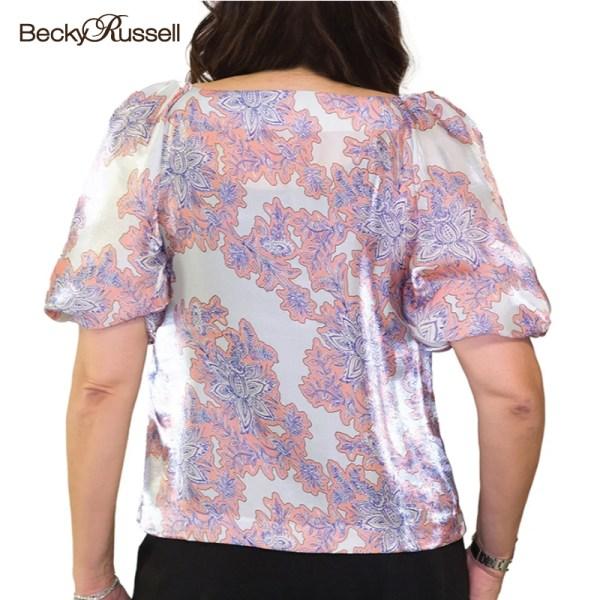 Becky Russell Becky Russell เสื้อเสื้อเบลาส์ผู้หญิง SHINNING FLORAL BLOUSE (PRB382)