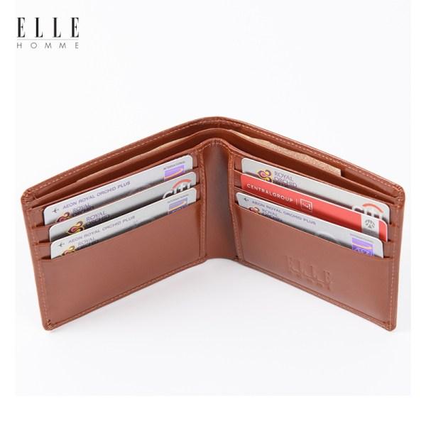 Elle Homme ELLE HOMME กระเป๋าสตางค์ผู้ชาย แบบพับ (H8W115)
