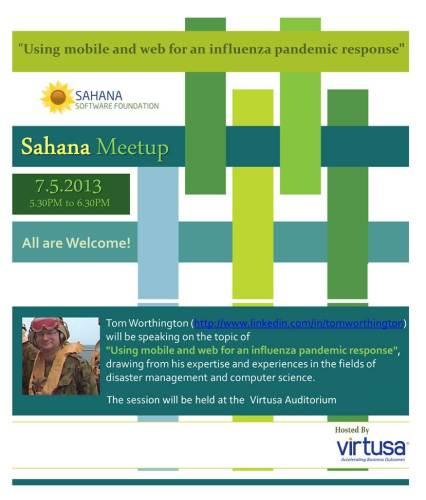 Sahana Meetup with Tom Worthington at Virtusa, Sri Lanka