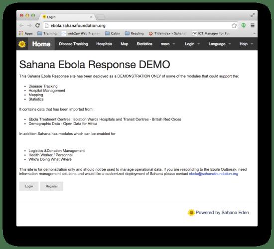 Sahana's Ebola Response