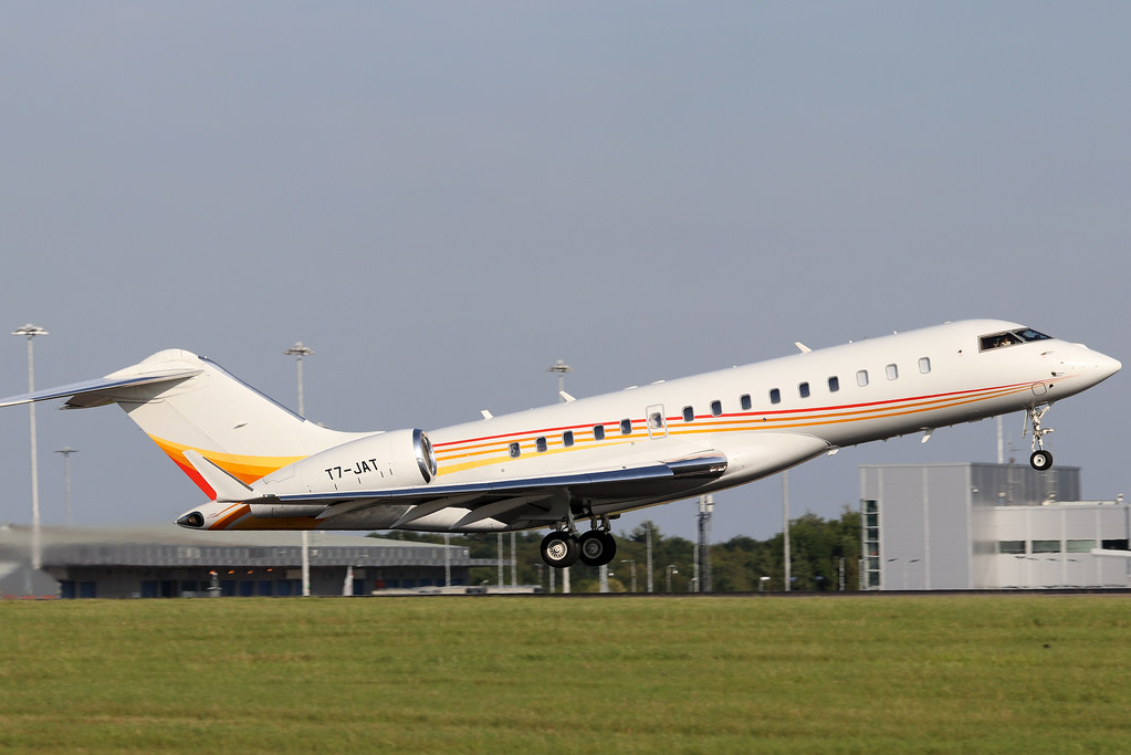 Falcon 900X with registration number T7-JAT
