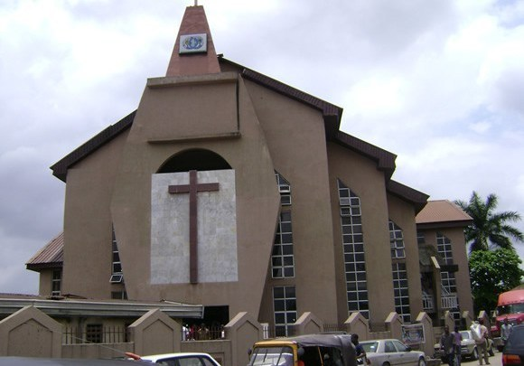 Front view of a church