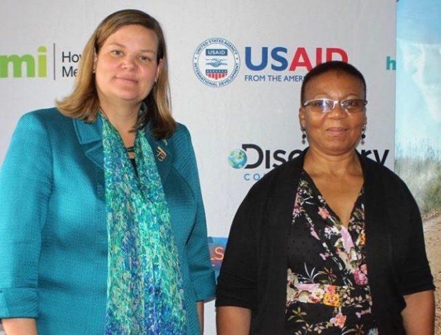 DCM Elizabeth Pelletreau and Dr. Mosilinyane Letsie
