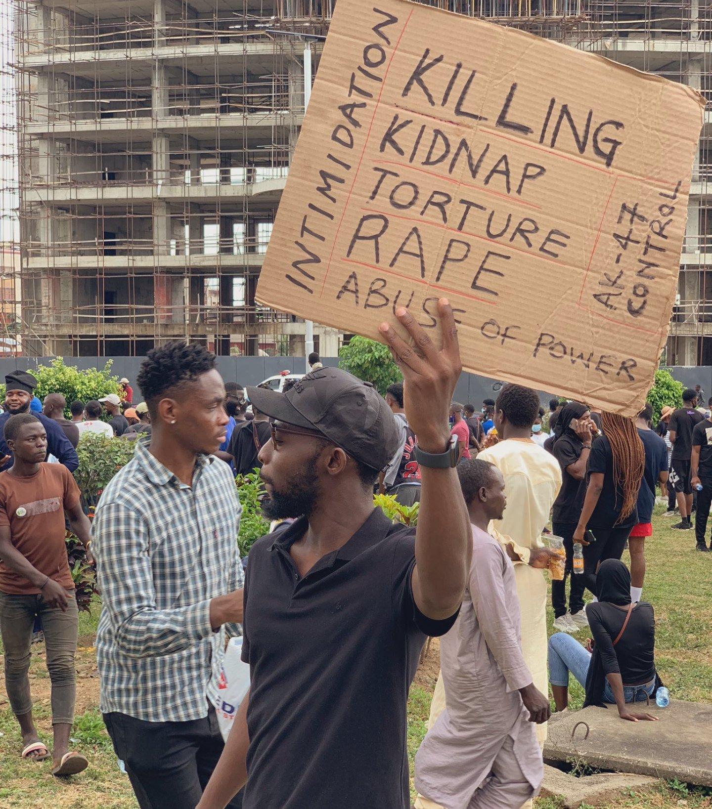 Gimba Kakanda at #EndSARS protest ground