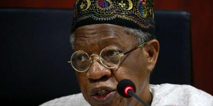 Nigeria's Minister of information and Culture, Lai Mohammed.