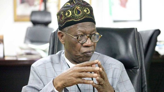 The Minister of Information and Culture, Alhaji Lai Mohammed.