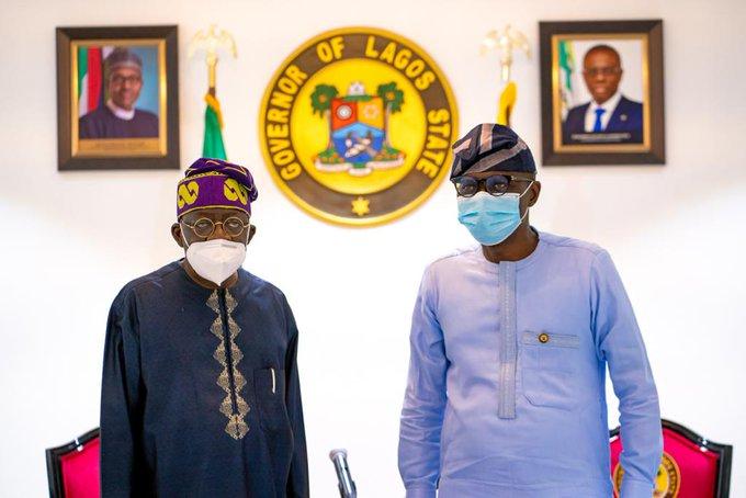 Ex Lagos Governor Tunubu with Governor Sonwo-Olu
