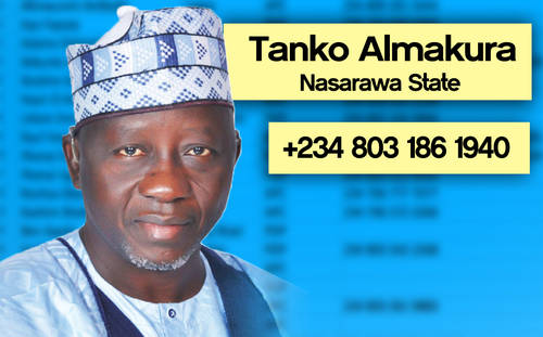 ALMAKURA Photos: Phone numbers of Nigerian governors leaked
