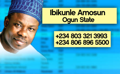 IBIKUNLE Photos: Phone numbers of Nigerian governors leaked