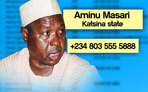 MASARI Photos: Phone numbers of Nigerian governors leaked