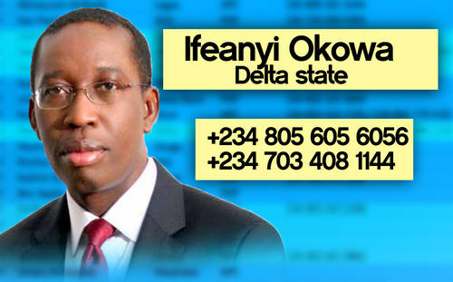 OKOWA Photos: Phone numbers of Nigerian governors leaked