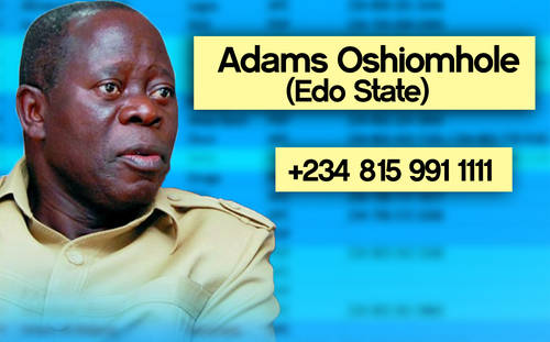 OSHIMOLE Photos: Phone numbers of Nigerian governors leaked