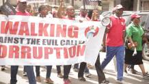 Image result for Joe Okei odumakin , others protest against corruption in Lagos