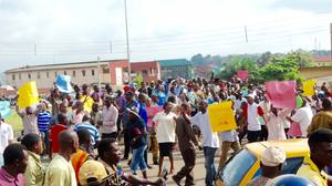 Image result for Ondo Polytechnic students demand payment of lecturers' salaries